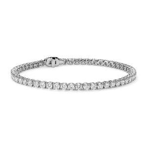 Ladies 5 Carats Round Cut Diamonds Tennis Bracelet